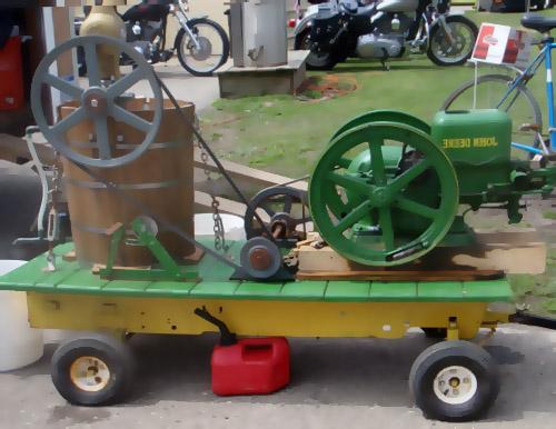 old fashioned ice cream machine